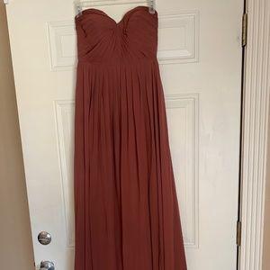 Jenny Yoo Mira Strapless Dress - Cinnamon Rose